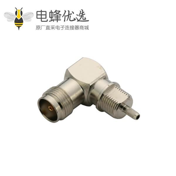 tnc接口母头弯式压接同轴线缆rg316