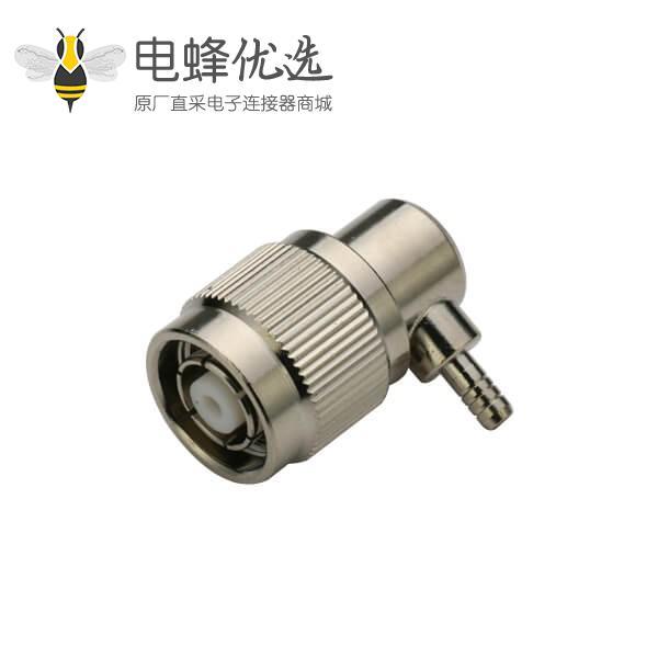 tnc接头反极插头压接弯式 射频同轴rf接线rg316