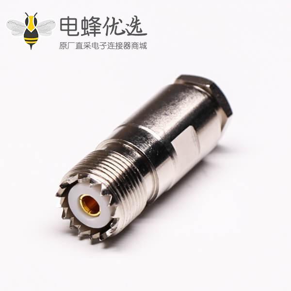 uhf同轴线缆UHF-K5直式母头螺母锁紧