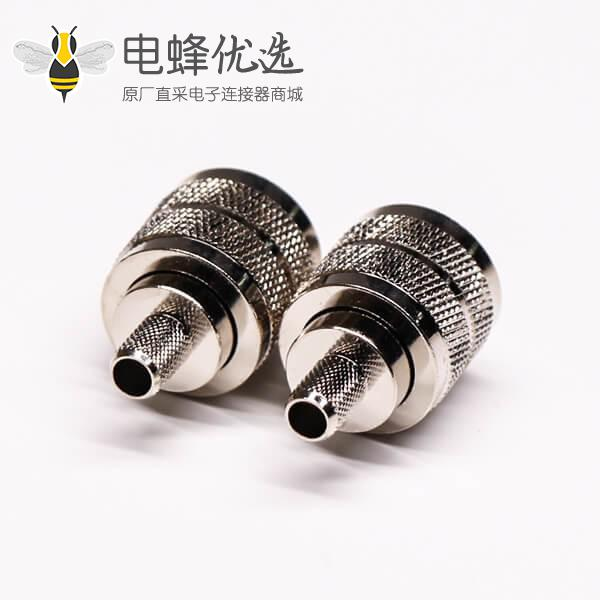 uhf型射频同轴连接器公头压接针镀银直式线端