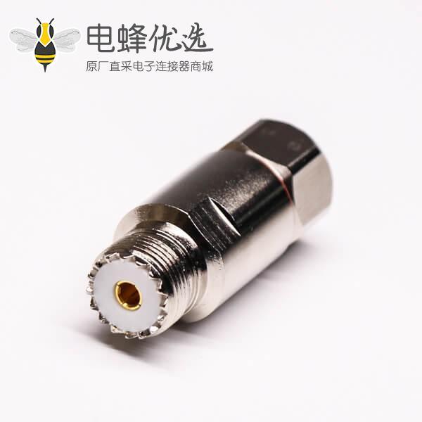 uhf连接器母头直式螺母锁紧UHF-SL16-K1/2