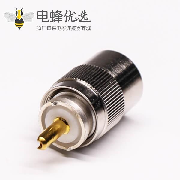 uhf公头连接器焊接直式接线UHF-SL16-T13