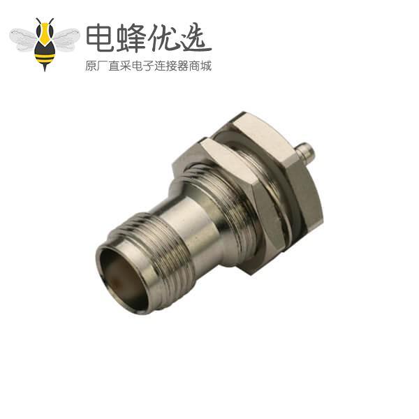 rg316同轴线缆面板安装反极直式焊接插座tnc射频连接器