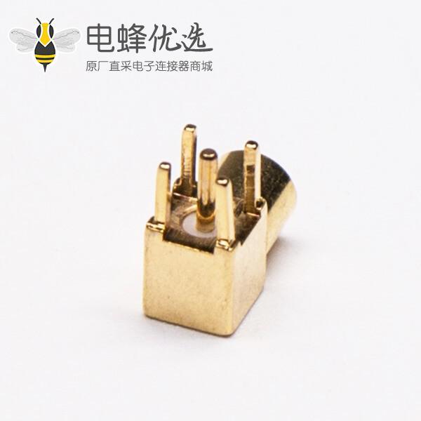 MMCX接口母头弯式90度插孔接PCB板