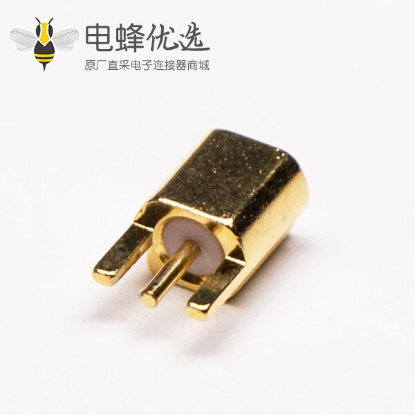 MMCX沉板式母座直式接PCB板镀金