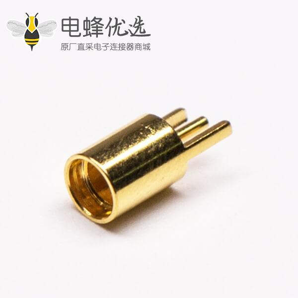 MMCX插座母头直式插板射频连接器镀金接PCB板