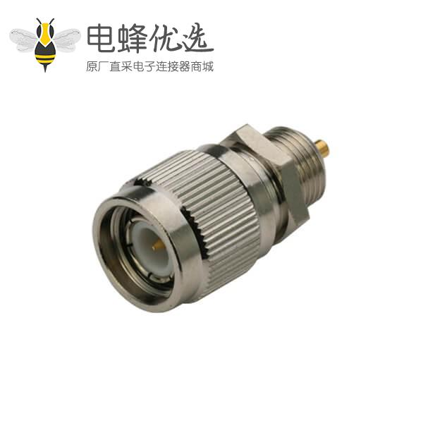 视频 射频同轴连接器tnc直式穿墙公头面板安装