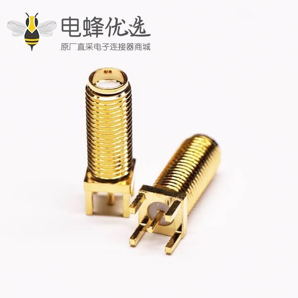 直插式SMA接口母头RF连接器穿孔接PCB板防水