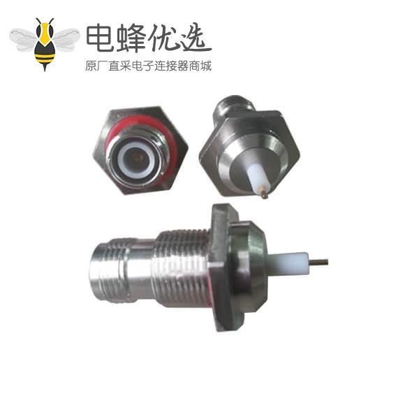 音视频连接器反极直式穿墙插座tnc连接器面板安装