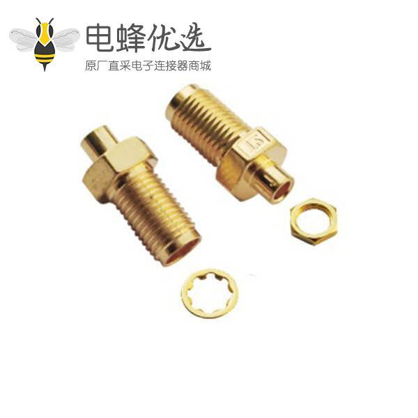 同轴线 焊接直式穿墙母头sma连接器线缆RG316