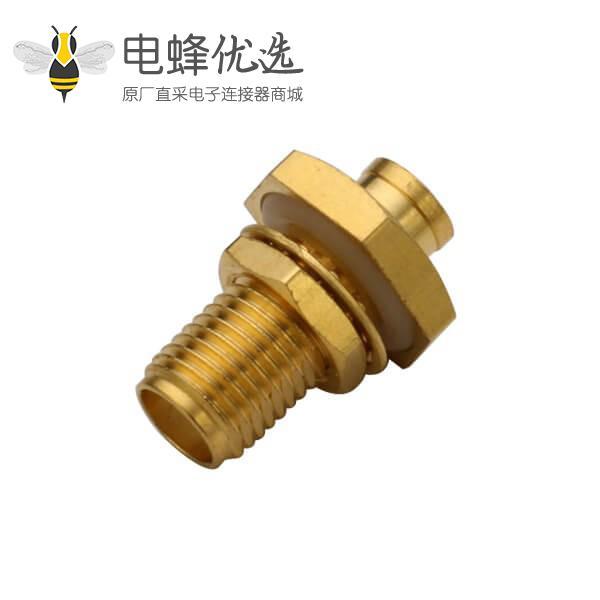 sma防水连接器直式穿墙母头线缆UT085