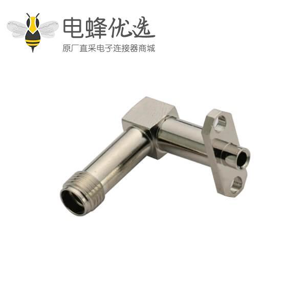 sma弯式2孔法兰盘母头面板安装接线UT085