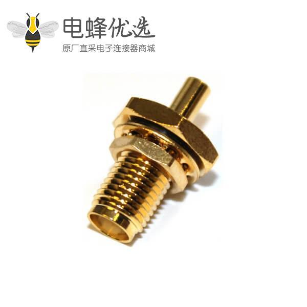 直式穿墙焊接母头防水sma同轴连接器线缆UT085
