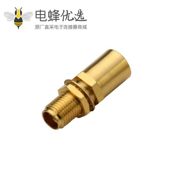 射频同轴线缆UT250直式穿墙防水sma连接器接头母头