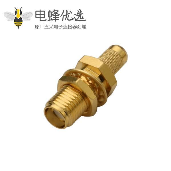 反极性sma插座直式穿墙同轴线缆RG400