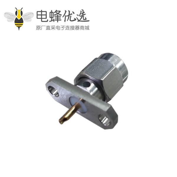 sma 连接器直式2孔法兰盘公头