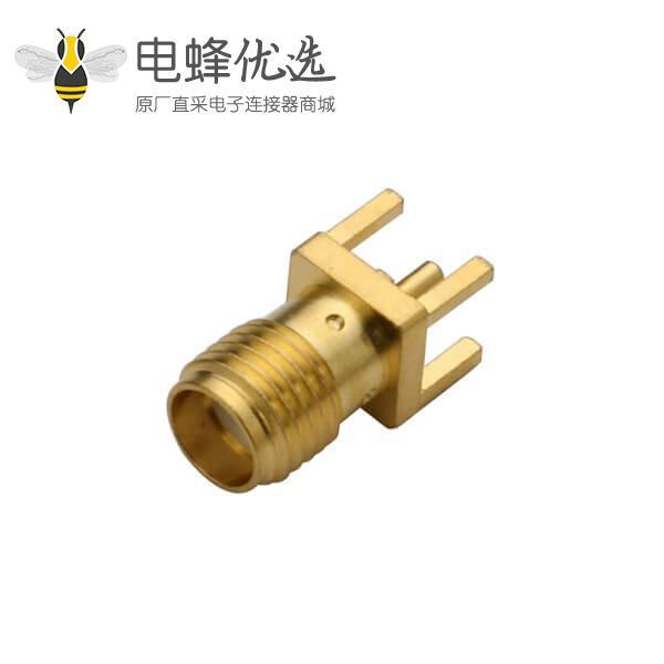 面板安装SMA接头直式穿孔镀金母头插座50欧姆