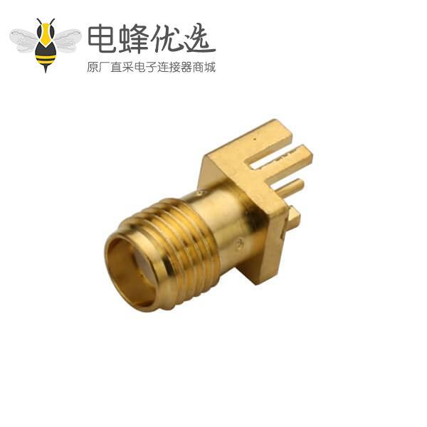 连接器PCB板缘表贴镀金SMA母头直式接1.60mm电路板
