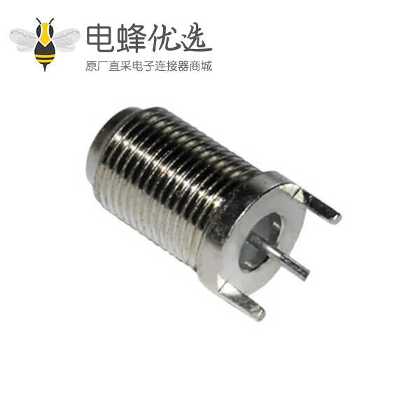 f型连接器直式穿墙式母头 PCB板端