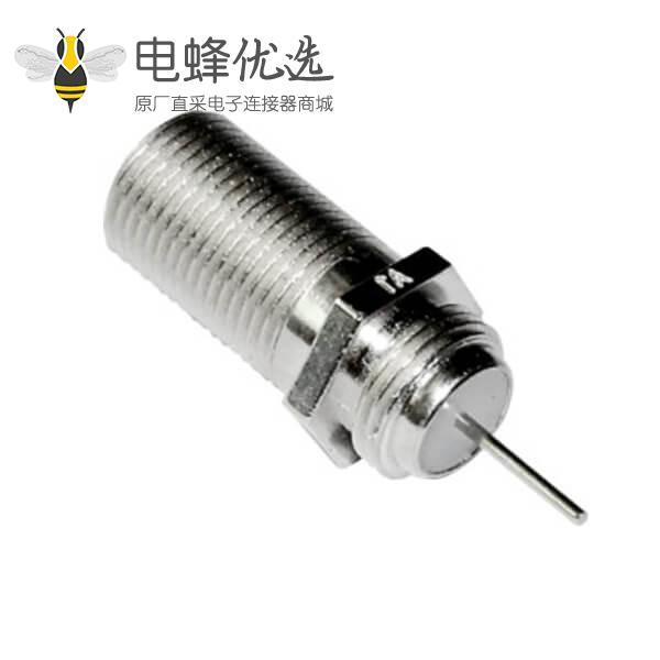 F型射频同轴连接器直式穿墙面板安装