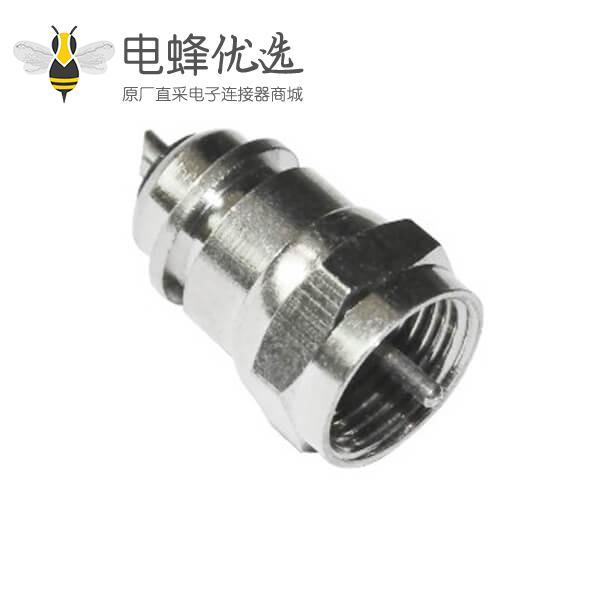 f射频直式公头连接器同轴线缆