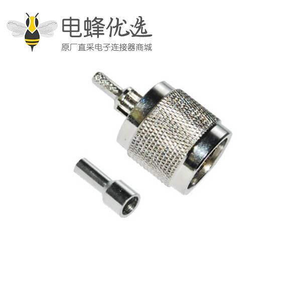 低损耗射频同轴电缆RG59/174/213直式压n型公头