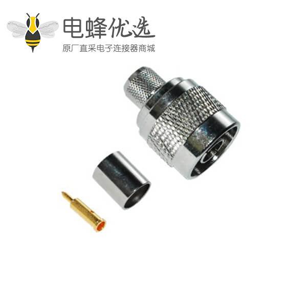 射频同轴线缆RG58直式压接公头N系列连接器