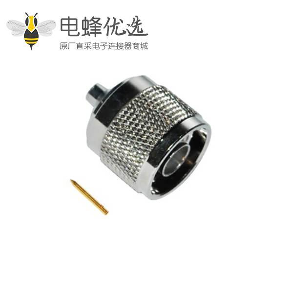 n头连接器公头同轴电缆直式焊接