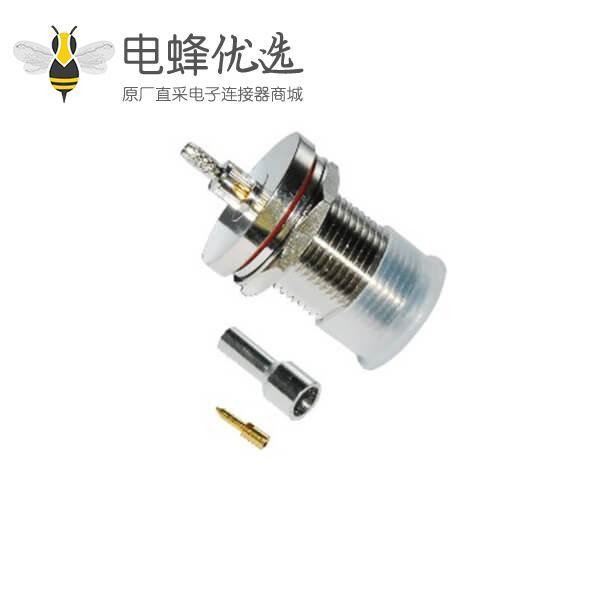 防水N型连接器插座直式穿墙式面板安装