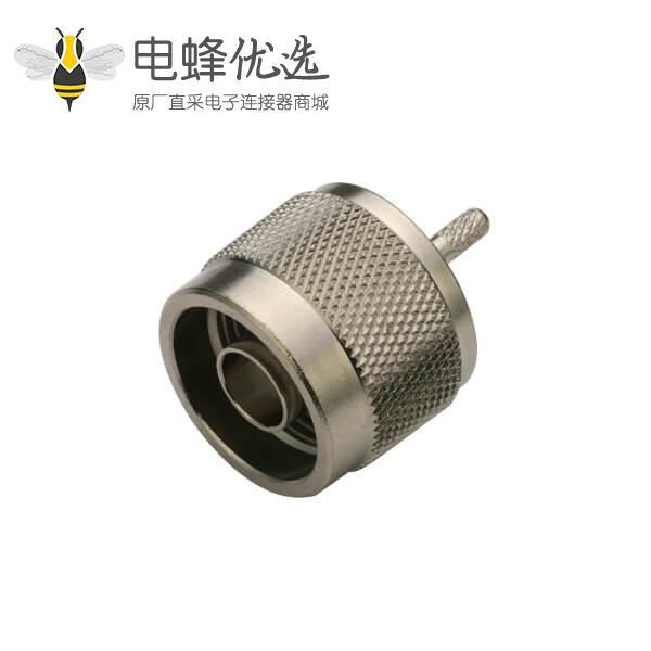 射频同轴连接器N头公头压接式连接线RG400,233.LMR194,142