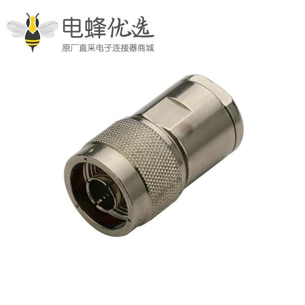 射频同轴N型连接器公头螺母锁紧式线缆RG214,RG213,LMR400