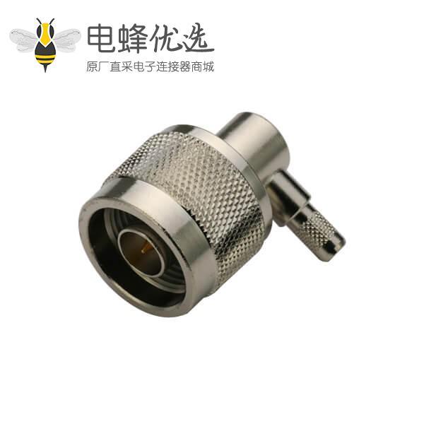n连接器同轴线缆RG316D/S弯式压接公头
