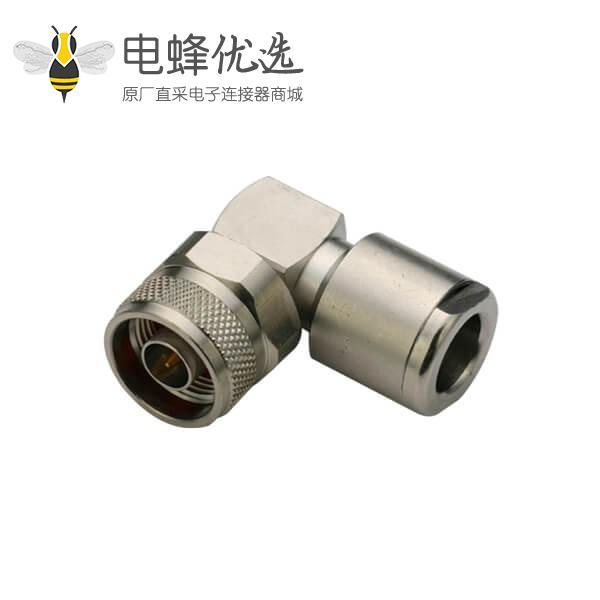 优质N型连接器弯式螺母锁紧式线缆LMR400,213,214