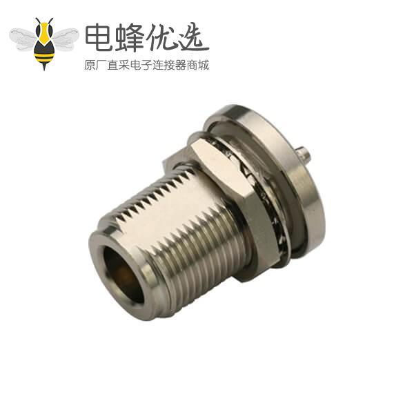 射频同轴电缆连接器n型直式防水母头连接线RG142,400,223
