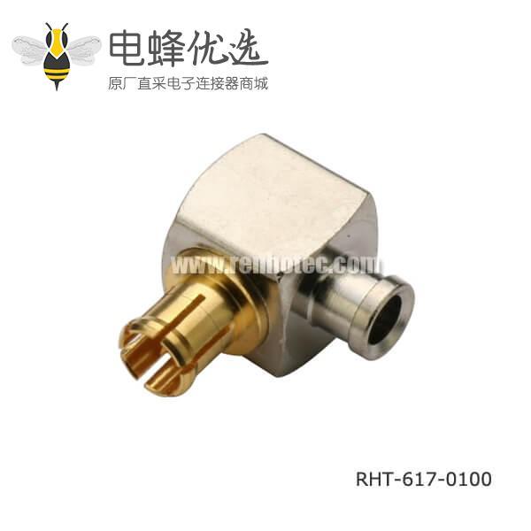 射频连接线SF085弯式焊接mcx同轴连接器